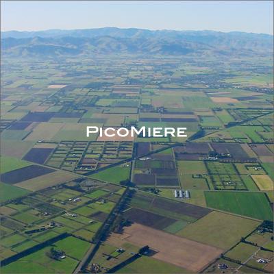 ニュージーランドカンタベリー地方航空写真